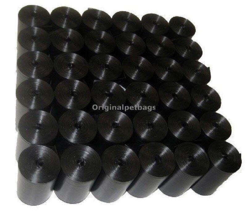 1012 Black Poop Bag Dog Waste Pick Up Clean Bags Coreless.Made in USA &Dispenser
