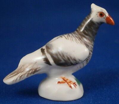 Meissen Porcelain Miniature Pigeon Bird Figure Figurine Porzellan Taube Figur #2