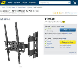 TV Mount - Support Mural - ** New in the Box **