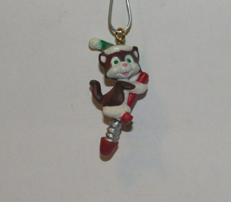 1992 Hallmark Christmas Miniature Ornament, Kittens In Toyland Collectors Series
