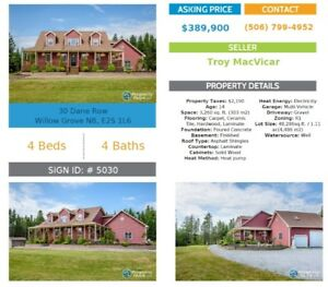 4300 sqft on 1.1 acres near Saint John, NB (private sale)