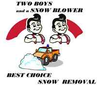 Two Boys and a Snow Blower Best Choice Oakville Snow Removal