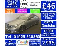 2013 GREY MERCEDES C250 2.1 CDI AMG SPORT PLUS DIESEL COUPE CAR FINANCE FR £37PW