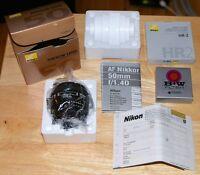 New Nikon 50mm f/1.4D Lens objectif neuf
