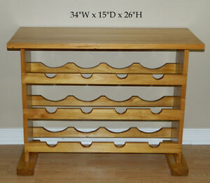 Wine Table Rack Wood 12 Bottle & Shoe Rack White