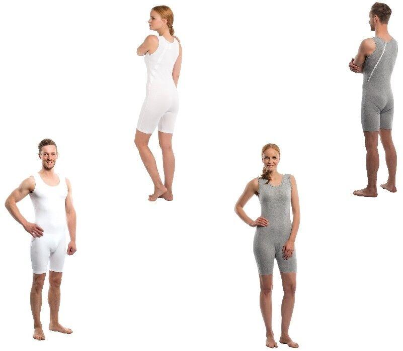 Suprima Pflegebody 4696 001/013 ohne Arm mit Rückenreißverschluss weiß oder grau