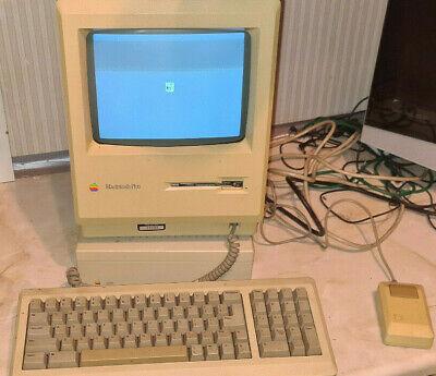 Apple Macintosh Plus with 20SC SCSI hard drive, vintage computing