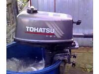 Tohatsu 4hp 2 stroke outboard engine boat tender dinghy