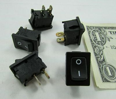 Lot 5 Marquardt Onoff Rocker Switches 15a 125vac 250vac Snap-in Panel Mount Usa