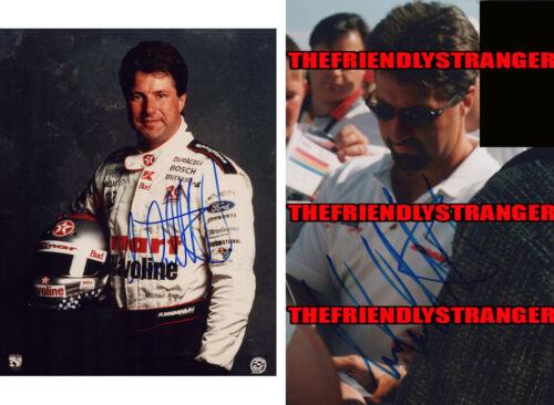 MICHAEL ANDRETTI signed Autographed INDY CART 8X10 PHOTO - PROOF - Texaco COA