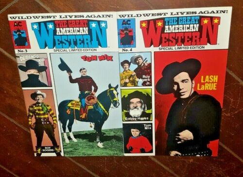 The Great American Western #3 & #4, (1988/89, AC Comics): Roy Rogers/Tom Mix!