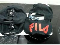 4 baseball caps dollar fila and no fear and grey baseball cap