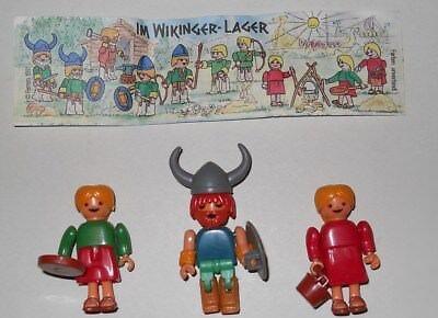 Ü-Ei Im Wikingerlager Wikinger 3 Figuren Steckfiguren Frau BPZ 1991