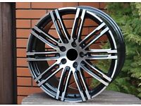 New 21 inch Rims for Porsche Cayenne Panamera 5x130 10J ET50 turbo style wheels