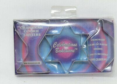 Hanukkah Cookie Cutters (Chanukah Cookie Cutters, 3-Pc)