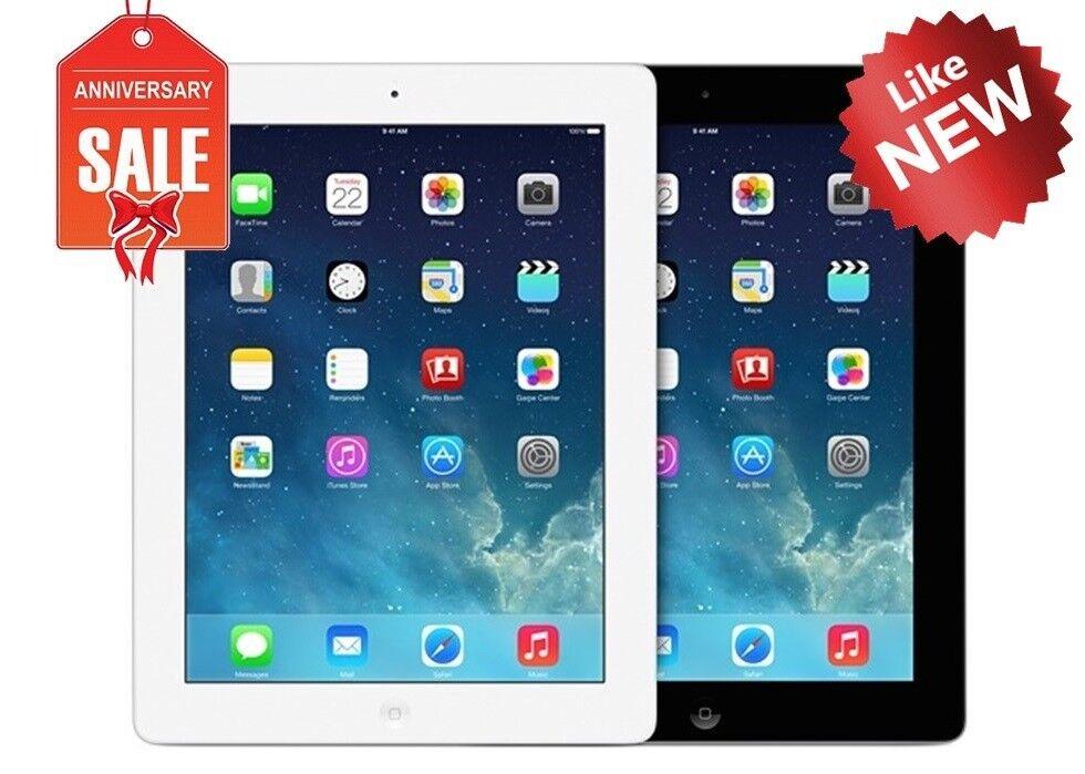 Apple iPad 4 WiFi + GSM Unlocked | 16GB 32GB 64GB 128GB | Black or White (R)