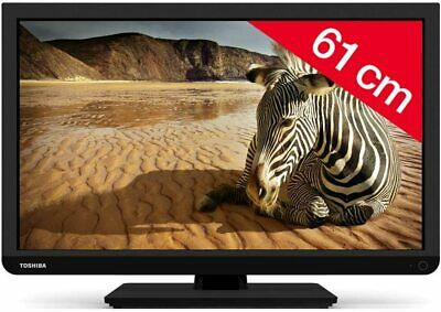 Toshiba 24W1333 24-inch 720p HD ready Widescreen LED TV, Freeview