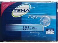 TENA Flex Plus Large (85-125cm/33-49in) 1400ml - Pack of 28 - £5