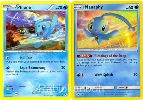 Legendary Sea Guardians Set + Phione Holo Rare Pokemon Manaphy