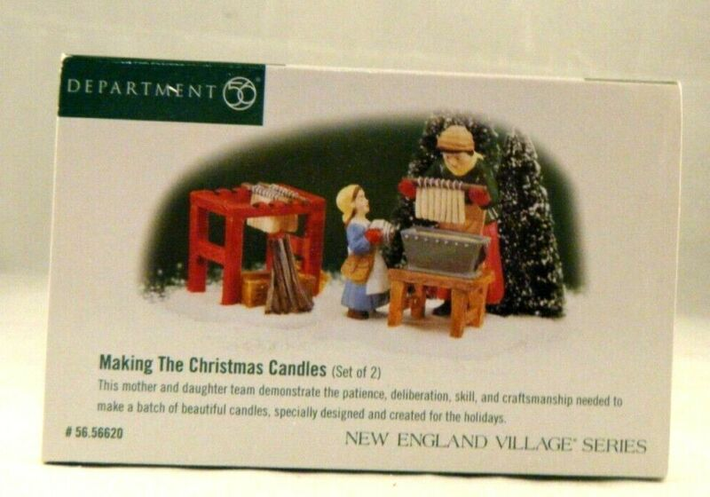 """D56 New England Village """"Making the Christmas Candles """" 56.56620 (P)"""