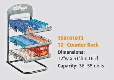 Wire 3 Shelf Counter Display Rack Snack Rack 12w X 31h X 16d