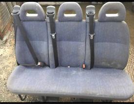 Rear van seats 1 triple 2 doubles 1 single £100