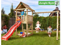Jungle gym garden swing set with slide