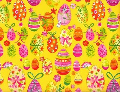 PAINTED EASTER EGGS GIFT WRAPPING PAPER - 6 Ft Sheet