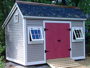 Storage shed diy plans 8x12 church st cottage garden shed for Victorian garden shed designs