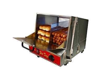 Hot Dog Steamer Cooker Bun Warmer Commercial Grade Restaurant Large Capacity