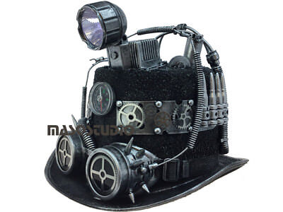 NEW Steampunk TOP Hat Spot Light Up Battery Burning man Cosplay Costume Party](Spotlight Dress Up Costumes)