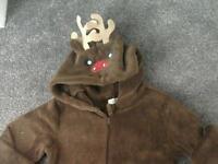 Reindeer onesie Age 8-9 yrs