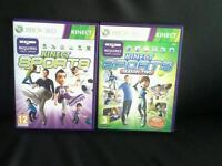 X box 360 kinect sport games 1 and season 2