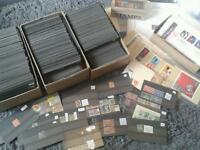 Job lot stamps collection 12kg carded stamp stock
