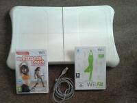 Nintendo Wii fit board with 2 games