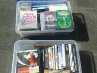 Job lot books plus 2 x plastic storage trays