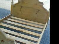 Large Solid Pine Double Bed