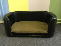 Luxury Faux Leather Dog beds Pet Sofas | Large & Small | End of Line Bargains |