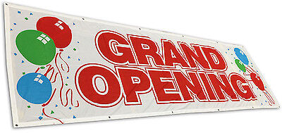 Grand Opening Banner 3x10 Sign Vinyl Alternative Store Sale Retail - Fabric Wb