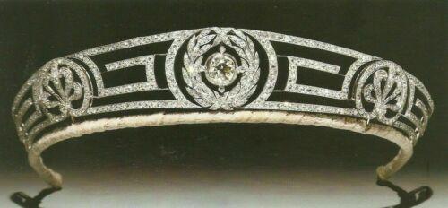 ANTIQUE VICTORIAN LOOK 15.23 CTW ROSE CUT DIAMOND 925 SILVER TIARA CROWN