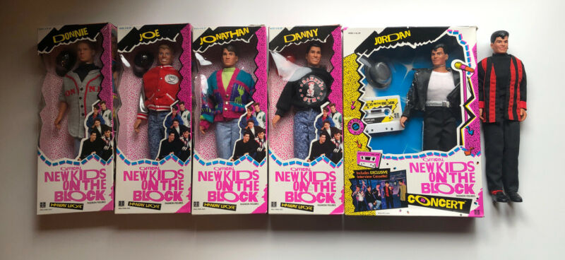 1990 HASBRO DOLLS NEW KIDS ON THE BLOCK in CONCERT Hangin Loose Lot Of 6 Dolls