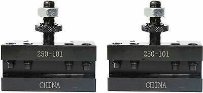 Axa 1 Set Of 2 Quick Change Turning Facing Cnc Lathe Tool Post Holder 250-101