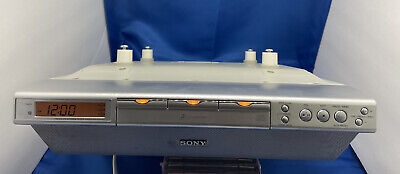 Sony ICF-CDK70 Under Kitchen Cabinet 3 CD Changer FM/AM Clock Radio w/ Hardware