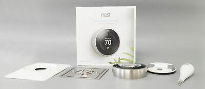 Nest 3rd Gen T3007ES Learning Thermostat - Stainless Steel