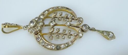 Edwardian Silve gilt and Paste Brides Pendant