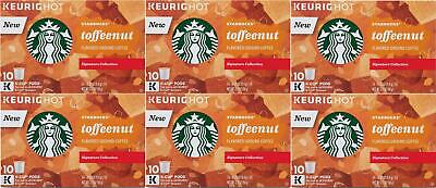 Starbucks Toffeenut Medium Roast Coffee K Cups for Keurig 60 Count BBD Jan 2020