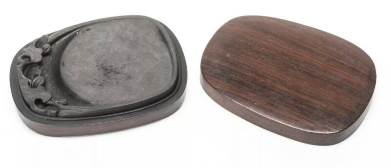 Chinese Antique/Vintage Ink Stone In Wood Box