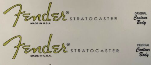 Fender Stratocaster Waterslide Decal X 2