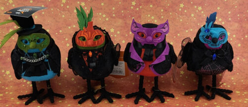 * WOW! SET OF 4 HALLOWEEN HYDE & EEK 2018 BIRDS * TARGET * NEW WITH TAGS *