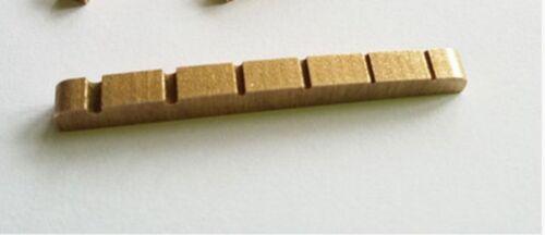 6 String Slotted Brass Guitar Nut 42mm For Strat Tele Guitar Nut